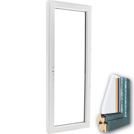 Porte fenêtre mixte BOIS/ALU 1 vantail ouverture à la française