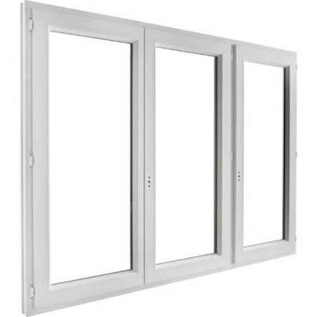 Porte fenêtre PVC 3 vantaux ouverture à la française
