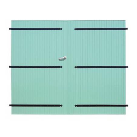Porte de garage PVC 28 mm à 2 vantaux